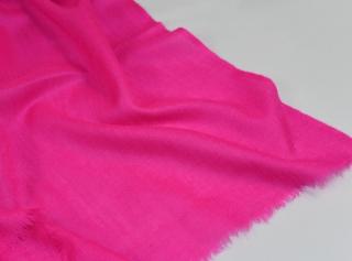 5869dcb416 Vlněná jednobarevná šála - křiklavě růžová empty